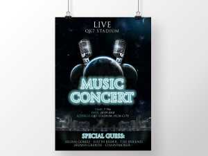 Live Music Concert Galaxy Poster