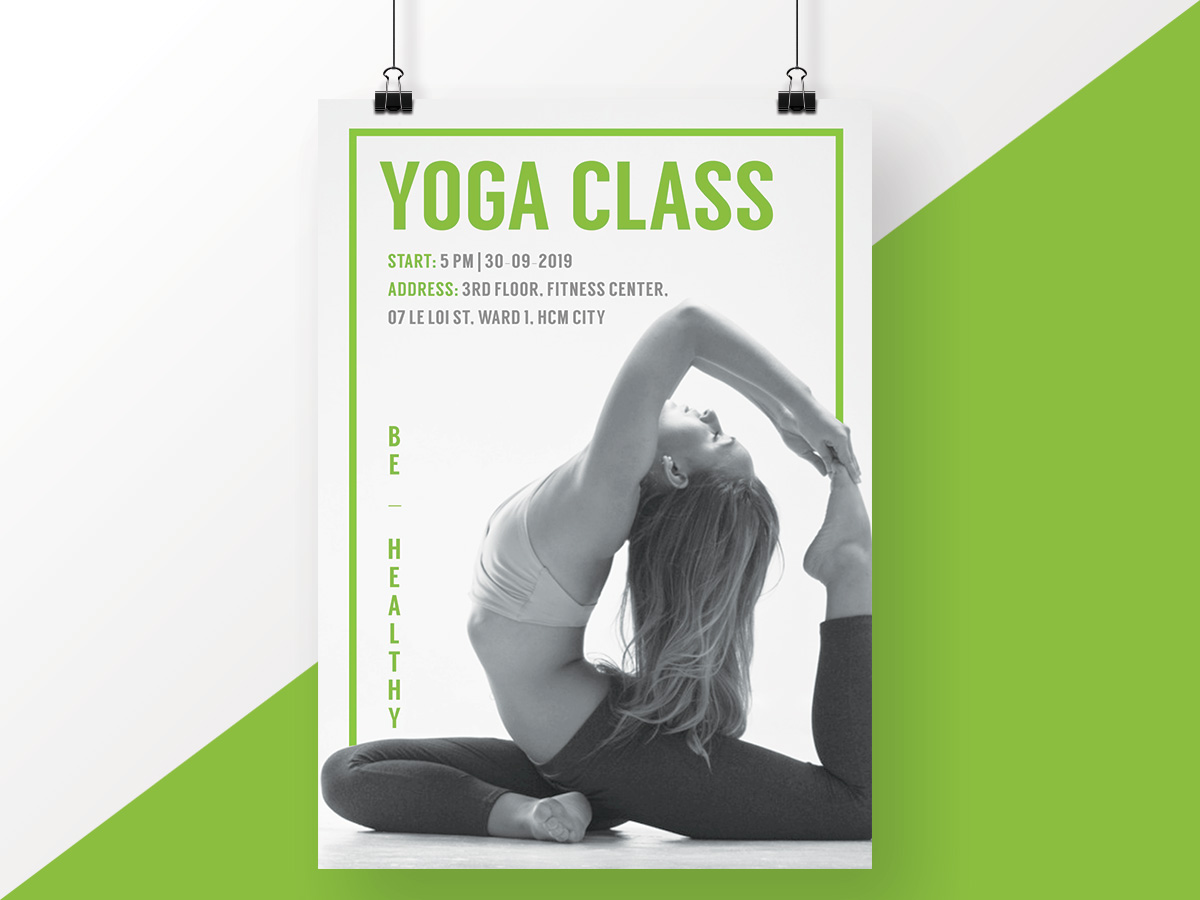 green, yoga, class, poster, flyer, sport, healthy, beauty, beautiful