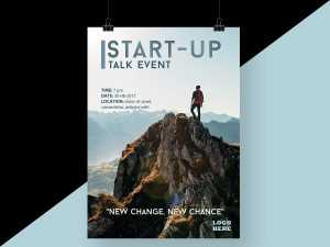 Top Start Up Talk Event Poster