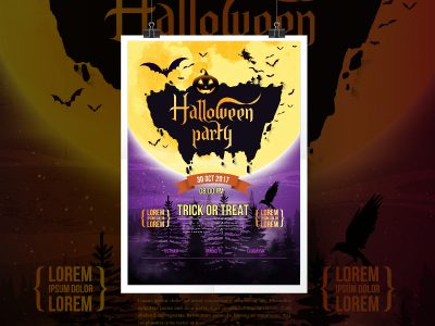 Halloween Party,Poster Templates