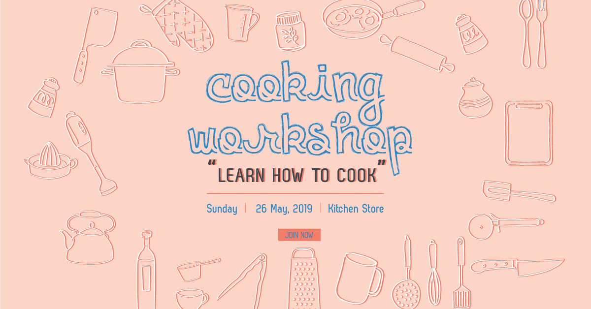 Cooking Workshop, Cooking, Workshop,Banner, Template, Social Media Template, Social Media, Poster, Design Template