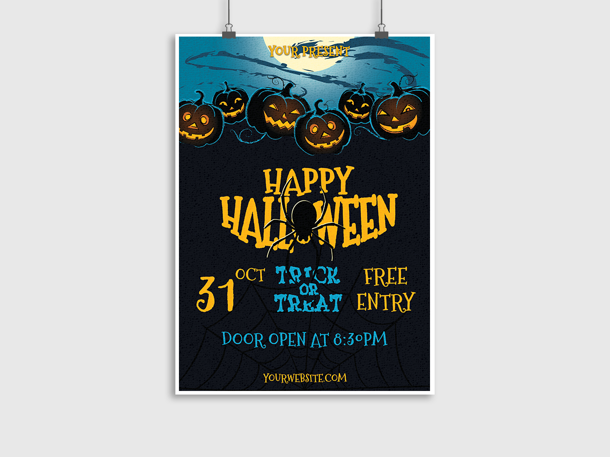 Happy Halloween - Flyer Template - Creatily Market