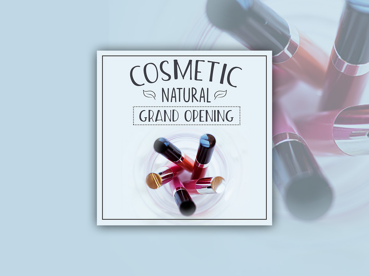 Cosmetic, Nature, Design, Templates, Banner Ads