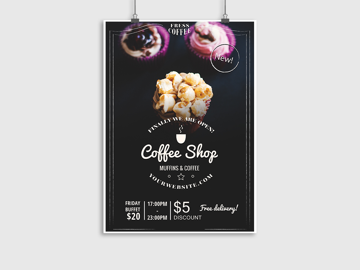 Coffee-Shop, Pastry, Flyer Template