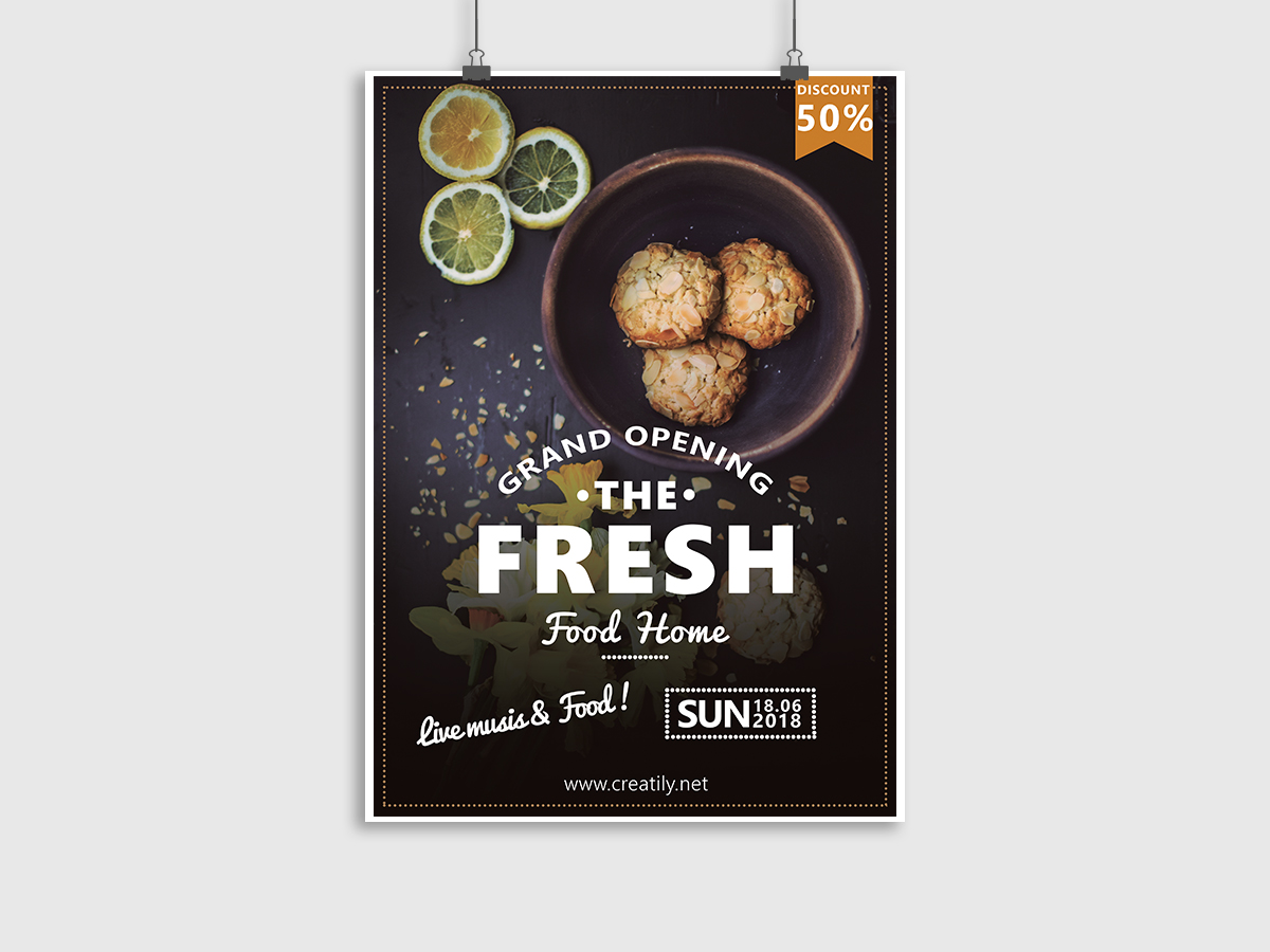 restaurant, Food Restaurant, food, grand opening, flyer template, poster template