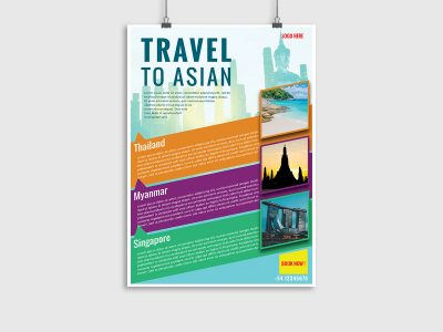 traveling, trip, asian, vietnam, thailand, tour, promotion, intro, travel agency, poster template, flyer template