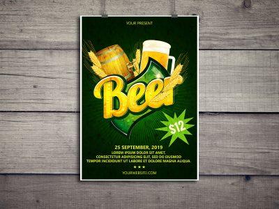 Beer, Festival, Flyer Template, poster, print