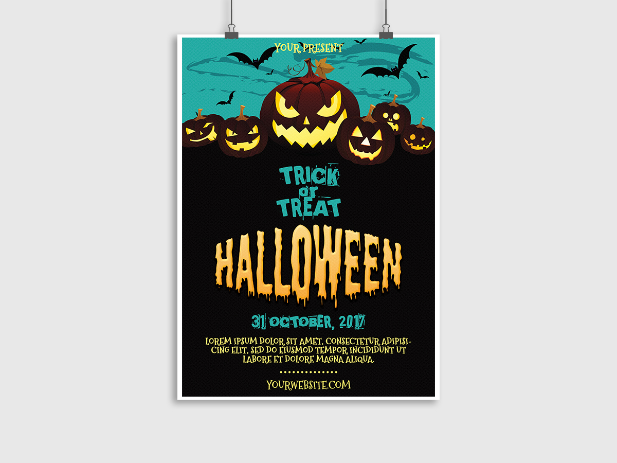 halloween poster template xcreative