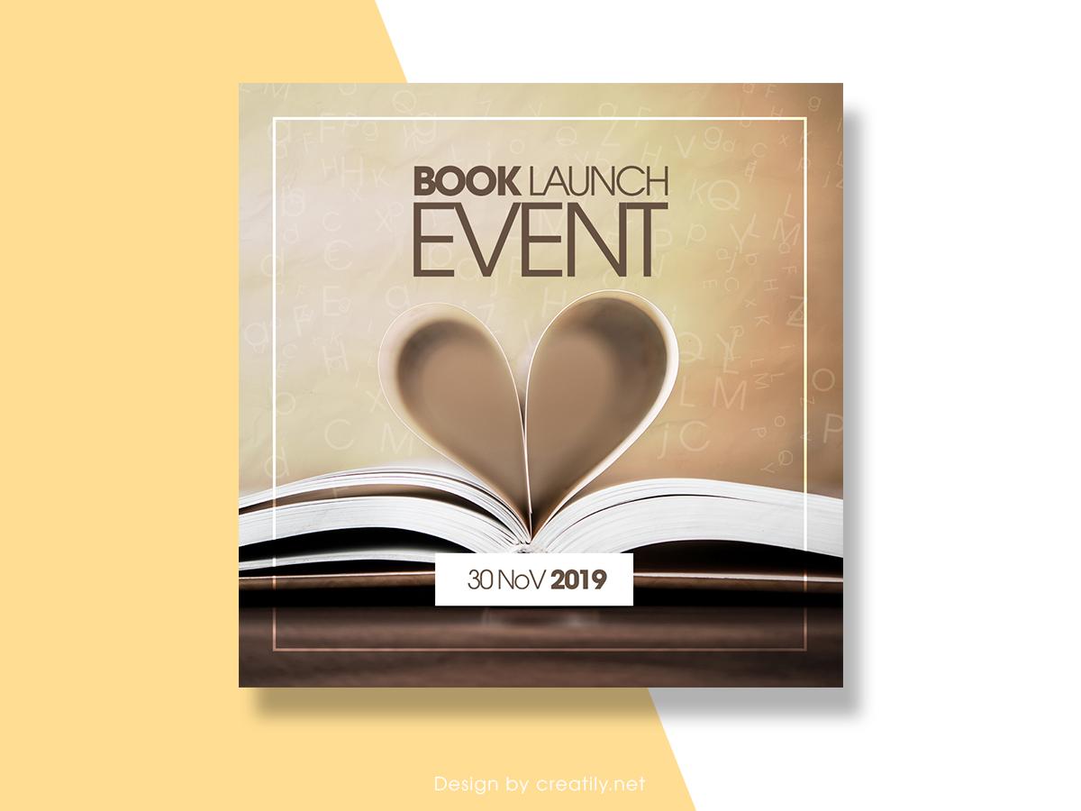 Book Launch Event, Social Media Templates, Book