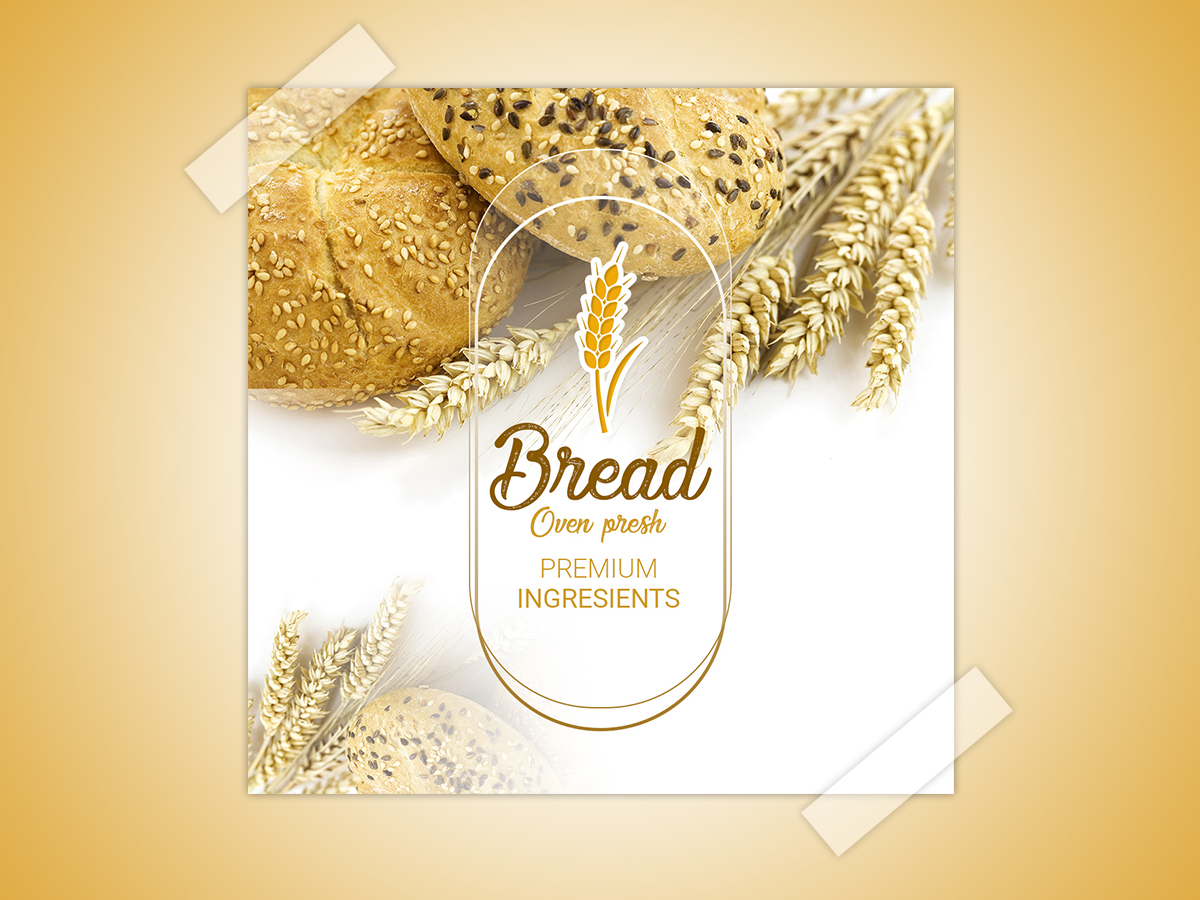 Bread oven presh, Social Media Templates