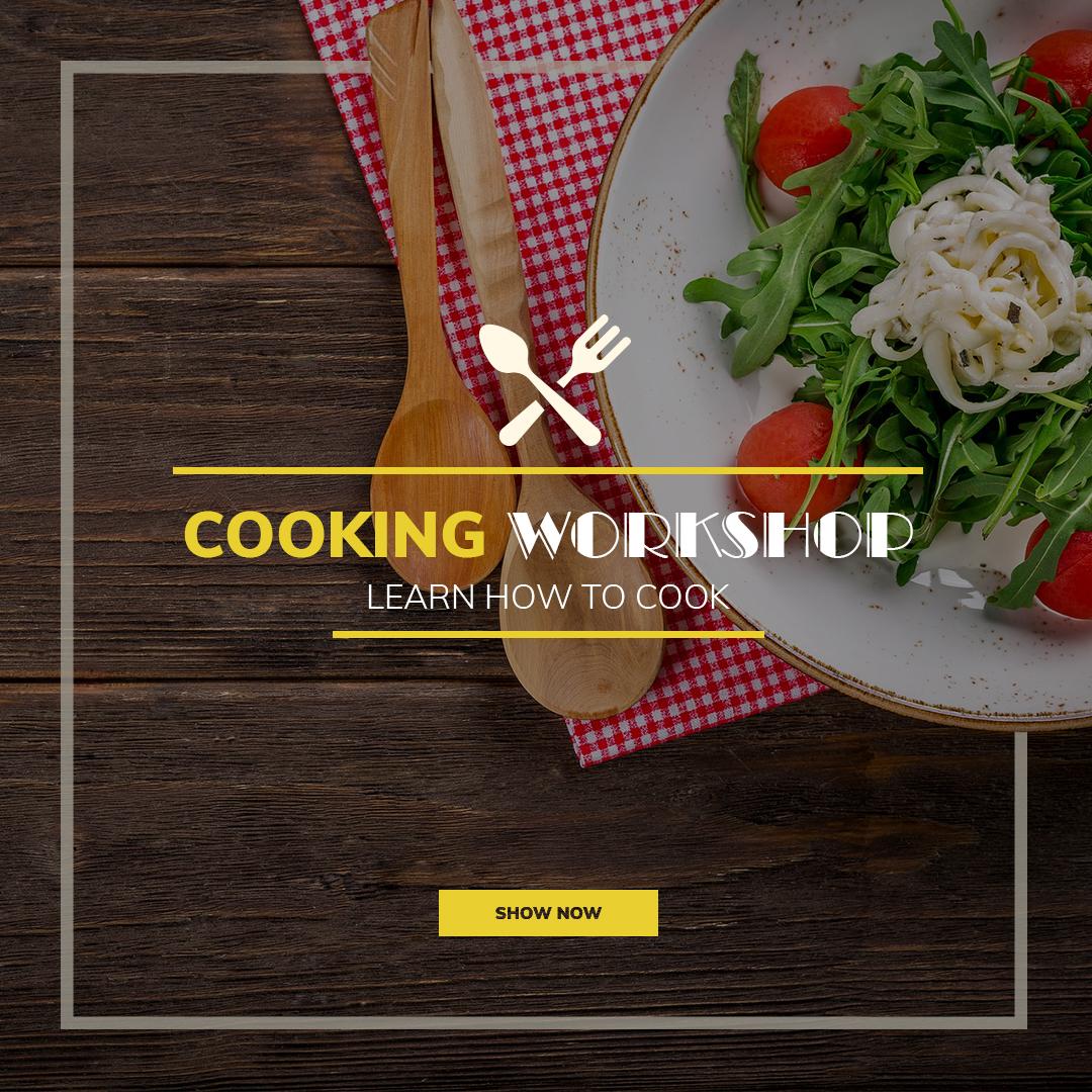 Facebook Ads, flyer, poster, Cooking, Cooking Workshop - Social Media Templatem,