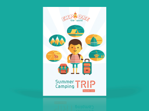 Flyer Summer Camping – Design Template
