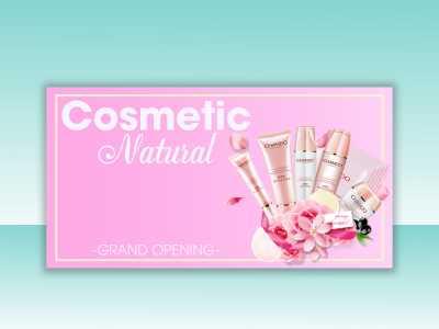 cosmetic, natural, social media, template, design