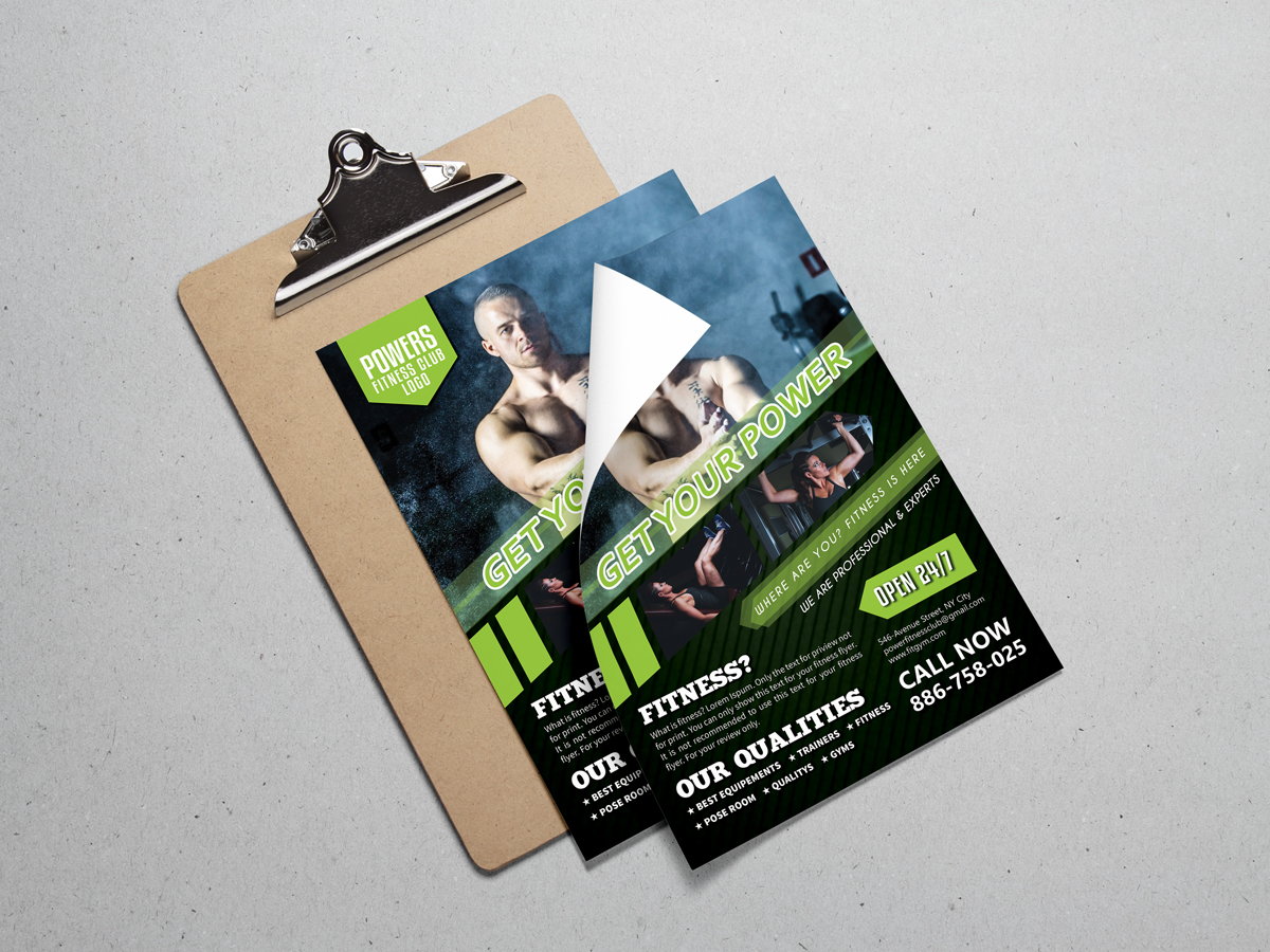 Fitness Club Flyer Template Xcreative
