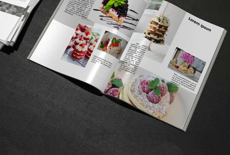 brochure, fast food, food, collection