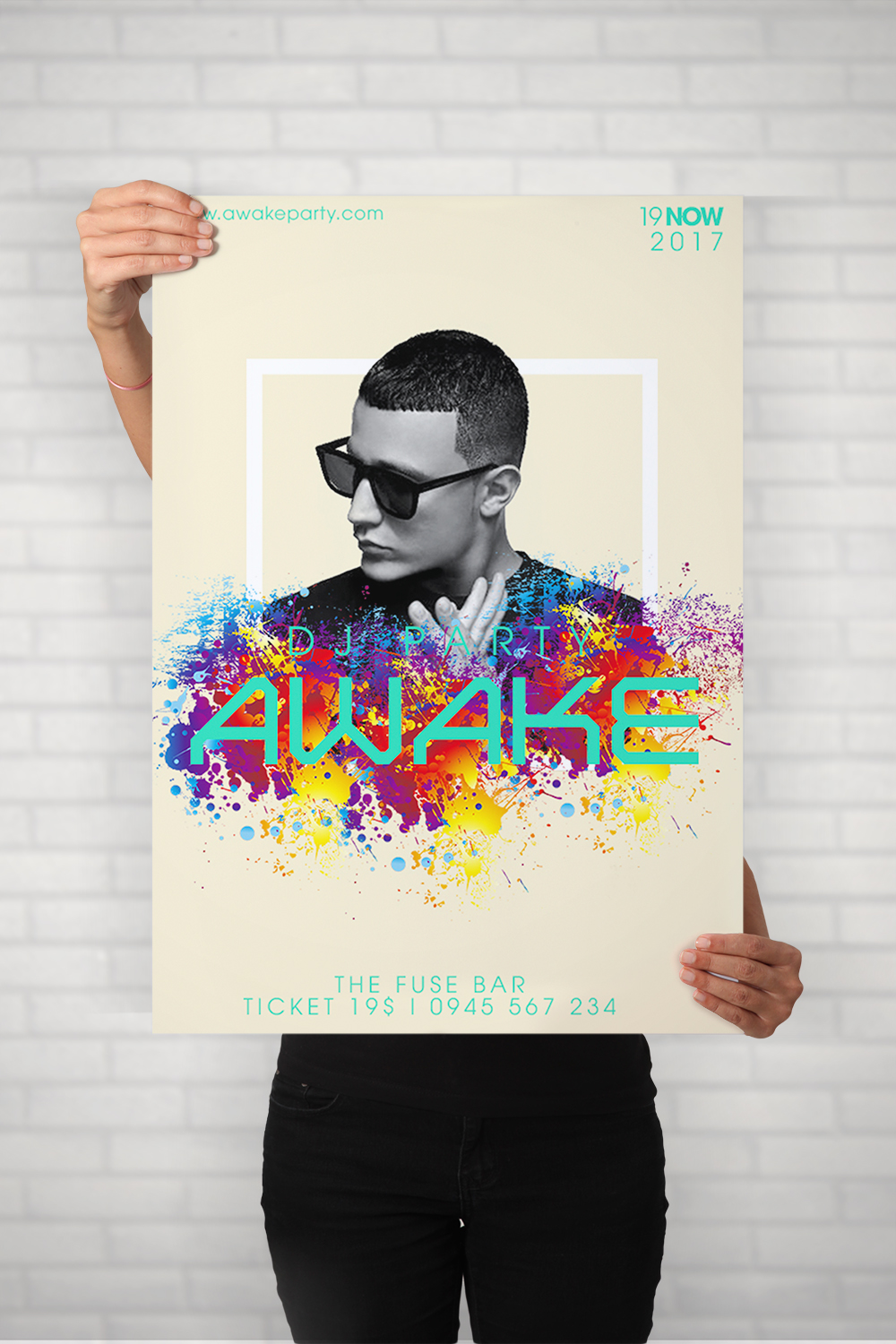 dj, party, music, show, poster