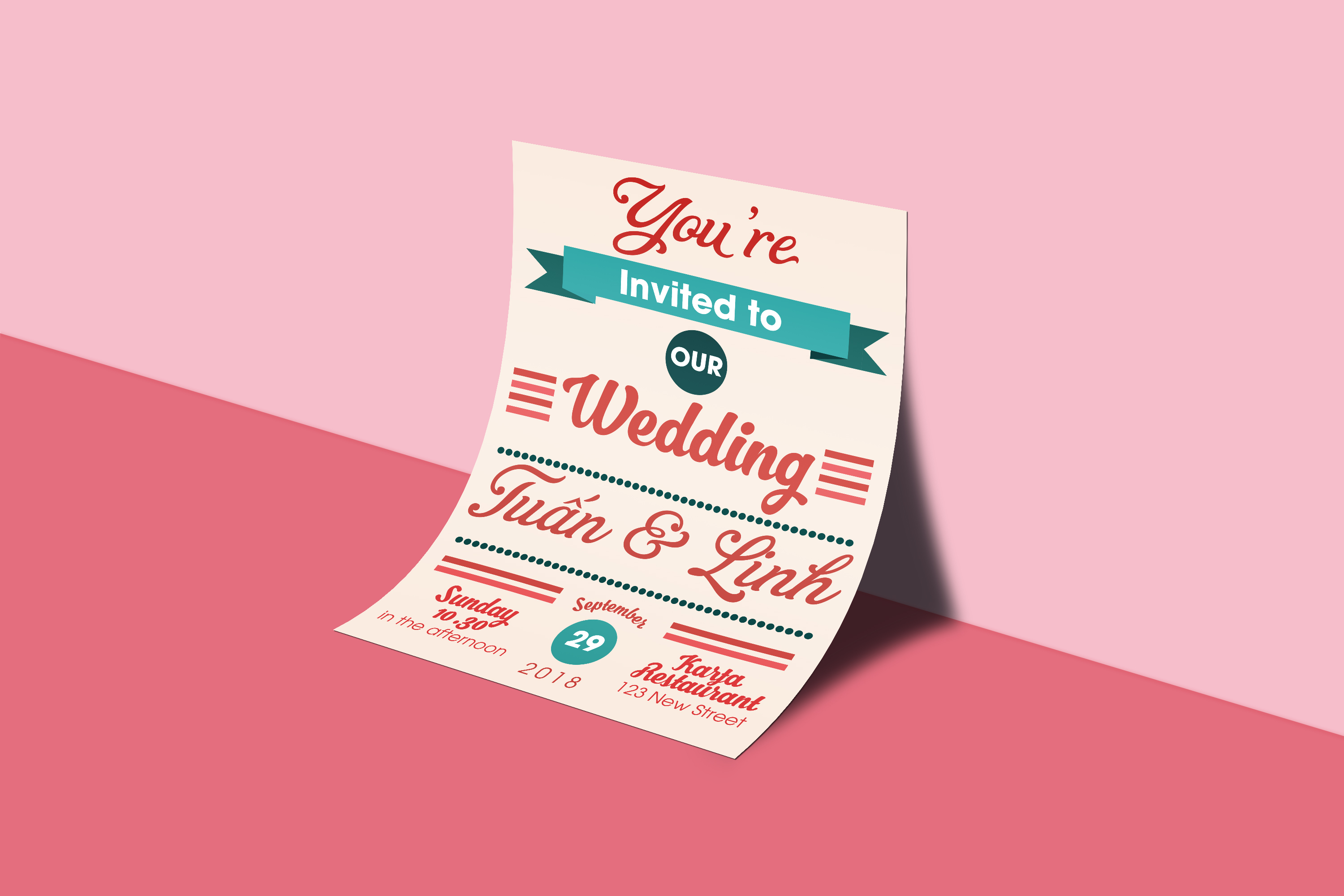 wedding, invitation, design, template