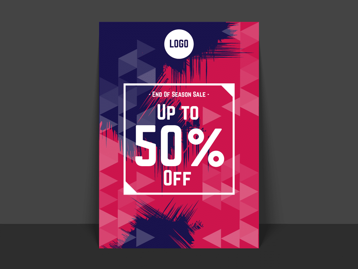end of season sale poster flyer templates xcreative