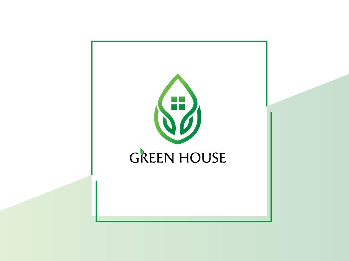 Green house logo templates