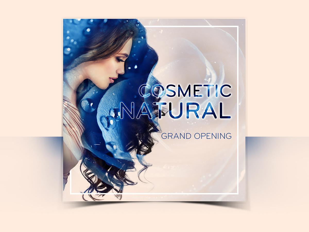 Cosmetic Natural Social Media Templates