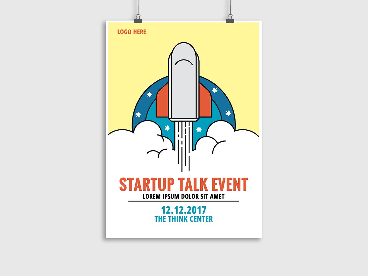 Startup Talk Event - Flyer Templates - XCreative
