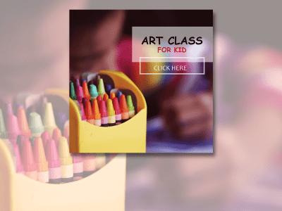 Art Class for Kid , Social Media Templates, student, kid, draw, art
