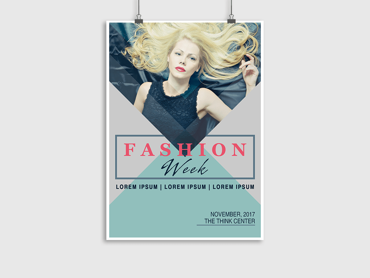 Fashion week, fashion, model, collection, event, style, poster, flyer, modern