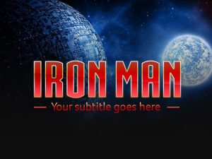 Iron man movie PSD Text Effect