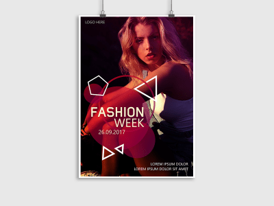 Fashion week, style, fashion, model, collection, poster, flyer, girl, event