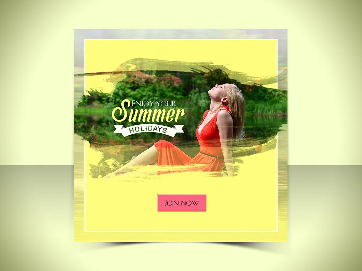 Enjoy summer holidays,social media templates