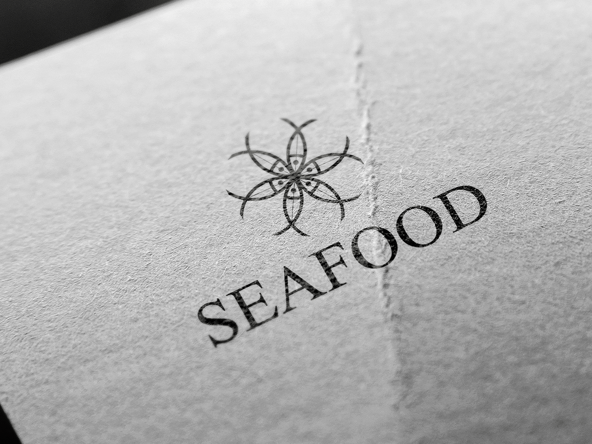 Sea Food logo, food, sea, beach, fish, logo, design, sea, sea food, fish, logo design, logo idea, logo template, logo pds, logo vector