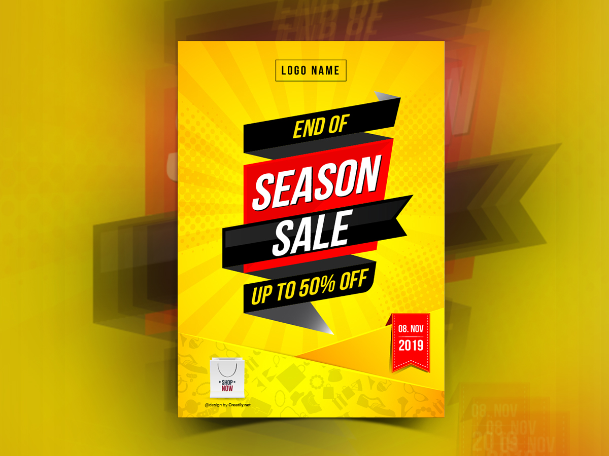End of season sale, Poster Templates
