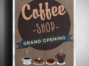 Coffee Grand Opening- Poster