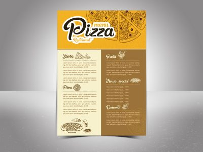 Menu Pizza Restaurant Templates
