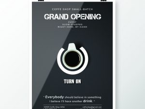 Coffe Shop Grand Open – Poster