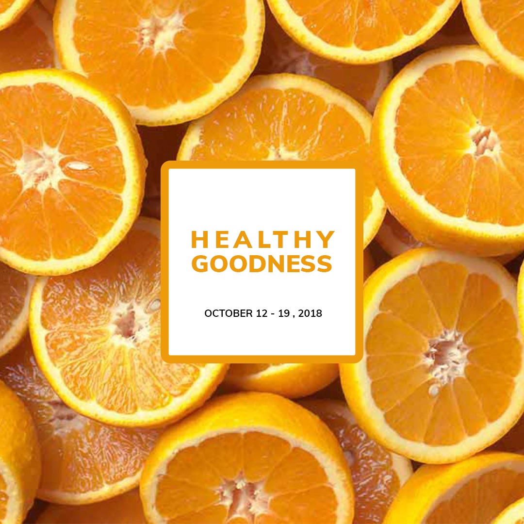 Healthy Goodness , Healthy , Facebook banner, Oranges, Template