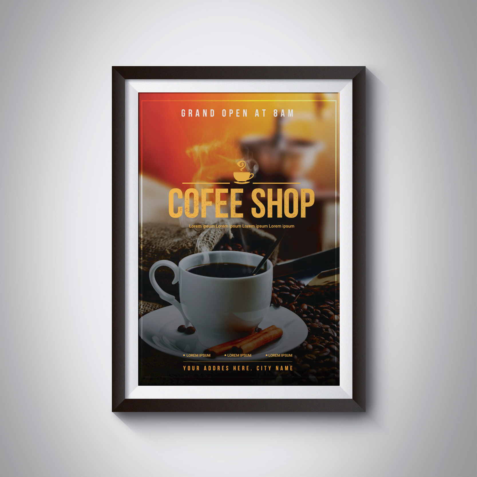 Coffee Shop Poster Templates