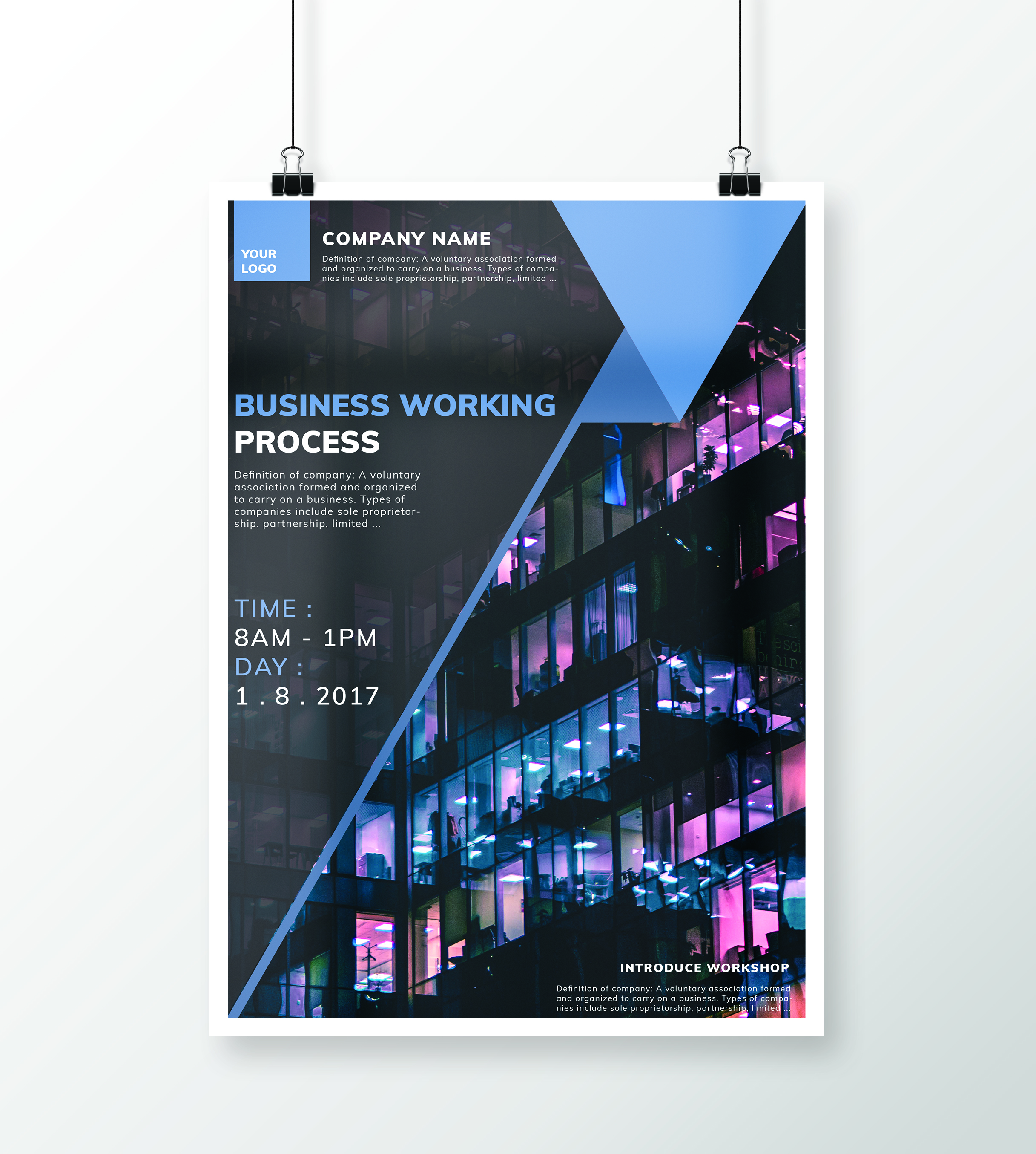 Flyers,Business Working Process, workshop, poster.