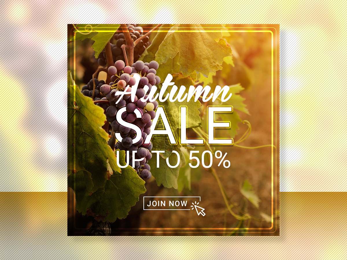 Autumn Sale up to 50, Social Media Templates