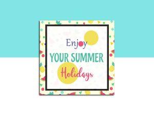 Enjoy your summer holidays – Social Media template