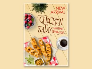 New Arrival – Chicken Satay Poster