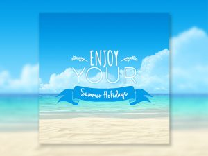 Enjoy Your Summer Holidays – Social Media Template