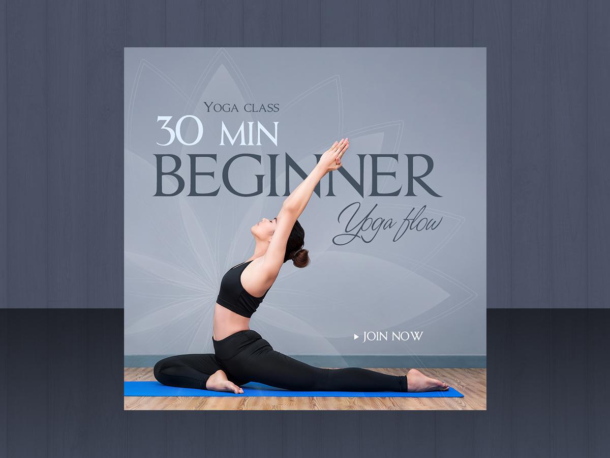 Yoga class social Media Template