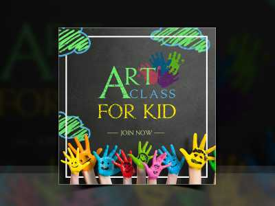 Art class for Kid-Social Media Templates
