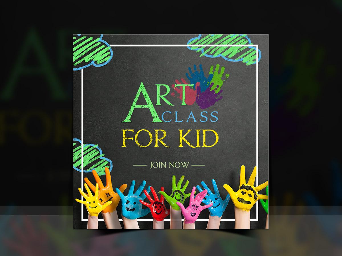 Art class for Kid-Social Media Templates