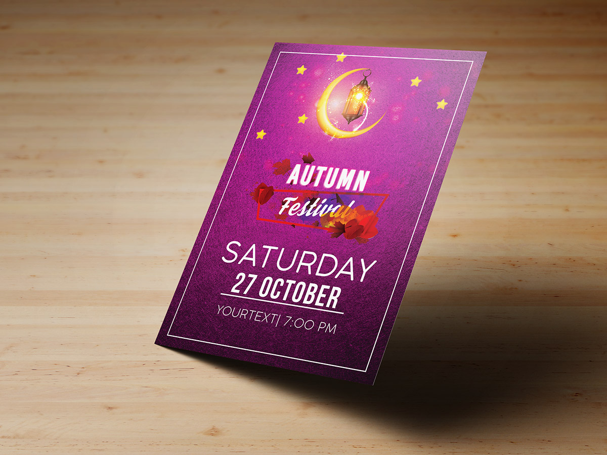 Autumn Festival, flyer templates, poster, mid autumn, fall, festival, moon,event