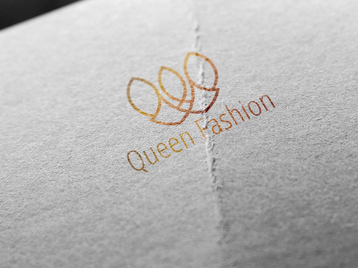 Queen Fashion, Logo Design, women, girl, shop, store, collection, queen, king