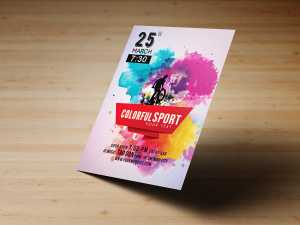Colorful sport – flyer templates