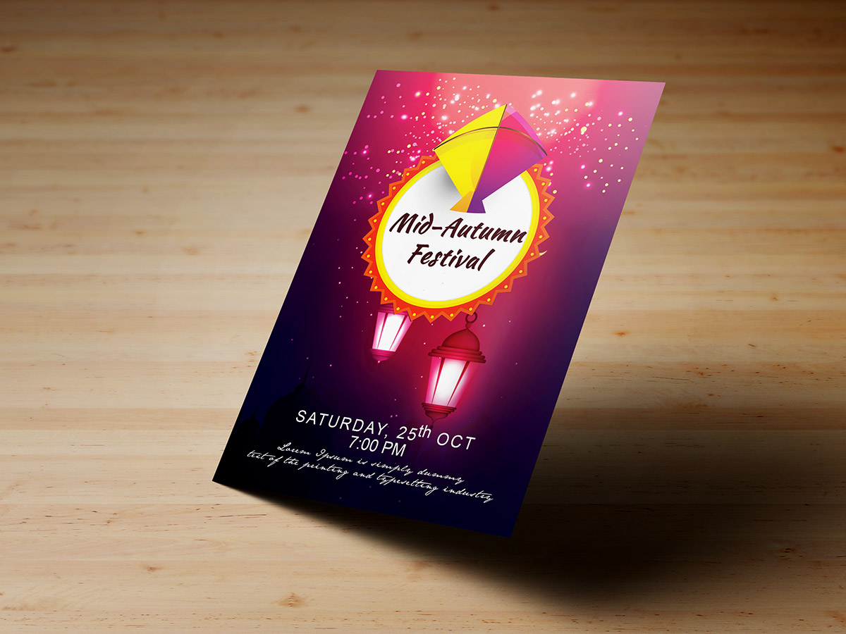 Mid Autumn Festival,Templates, flyer, poster, kids, children, festival, autumn, lantern