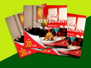 Deli Restaurant – Social Media template